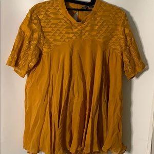 Yellow Tunic Blouse